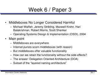 Week 6 / Paper 3
