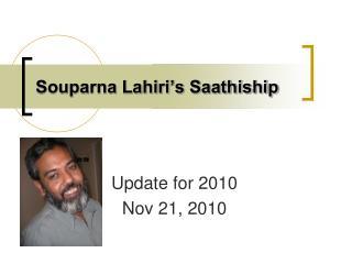 Souparna Lahiri's Saathiship