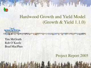 Hardwood Growth and Yield Model (Growth & Yield 1.1.0)