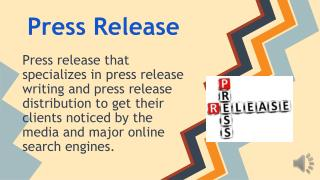Boilerplate Press Release