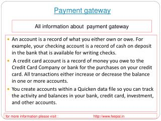 A brief look at the payment gateway