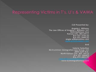 Representing Victims in T's, U's & VAWA