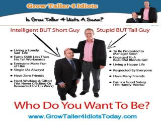 Grow Taller 4 Idiots Review - Increase Height Naturally