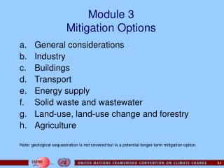 Module 3 Mitigation Options