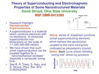 Research Highlight:  Nanostructured Superconductors
