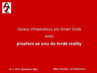 Úpravy infrastruktury pro Smart Grids aneb prozření ze snu do tvrdé reality
