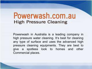 Best Gold Coast High Pressure Cleaning Services