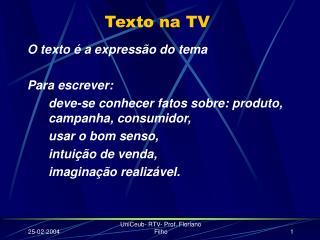 Texto  na  TV
