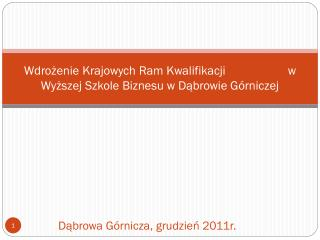Dąbrowa Górnicza, grudzień 2011r.
