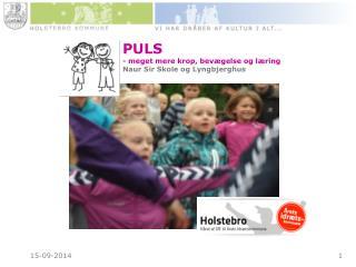 PULS - meget mere krop, bevægelse og læring Naur Sir Skole og Lyngbjerghus
