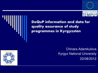 DoQuP information and data for quality assurance of study programmes in Kyrgyzstan