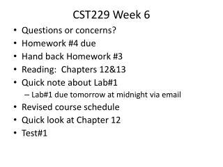 CST229 Week 6