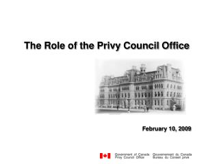The Role of the Privy Council Office