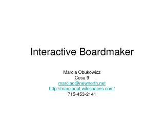 Interactive Boardmaker