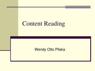 Content Reading