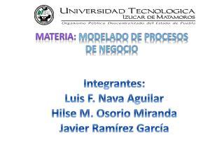 Integrantes: Luis F. Nava Aguilar  Hilse  M. Osorio Miranda Javier Ramírez García