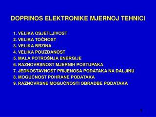 DOPRINOS ELEKTRONIKE MJERNOJ TEHNICI