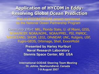 Application of HYCOM in Eddy-Resolving Global Ocean Prediction