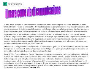 il mare come via di comunicazione