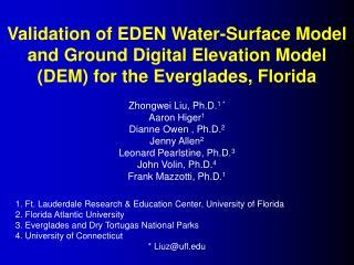 Zhongwei Liu, Ph.D. 1 * Aaron Higer 1 Dianne Owen  , Ph.D. 2 Jenny Allen 2