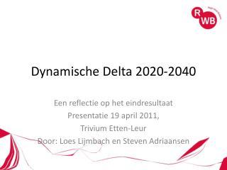 Dynamische Delta 2020-2040