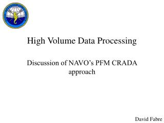 High Volume Data Processing