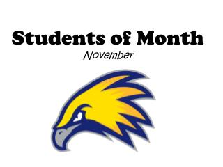 Students of Month November