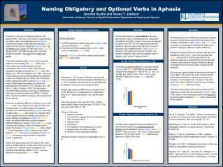 Naming Obligatory and Optional Verbs in Aphasia