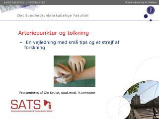 Arteriepunktur og tolkning