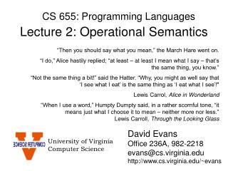 CS 655: Programming Languages