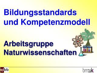 Bildungsstandards und Kompetenzmodell Arbeitsgruppe Naturwissenschaften