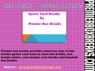 Latest live box breaks