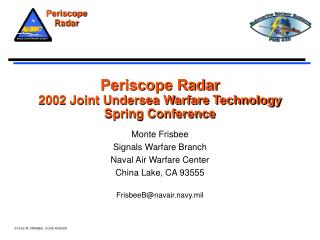 Periscope Radar 2002 Joint Undersea Warfare Technology Spring Conference