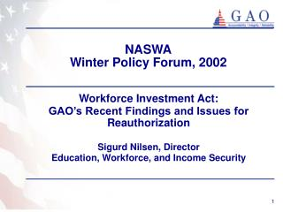 NASWA Winter Policy Forum, 2002