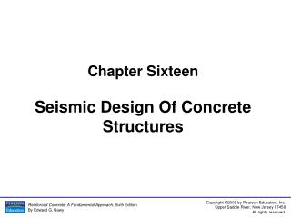 Chapter Sixteen Seismic Design Of Concrete Structures