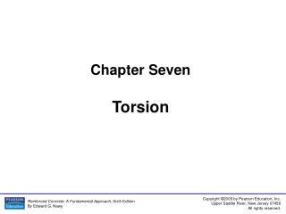 Chapter Seven Torsion