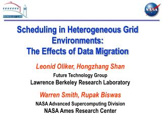 Scheduling in Heterogeneous Grid Environments: The Effects of Data Migration