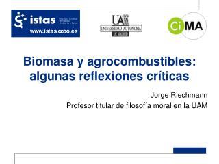Biomasa y agrocombustibles: algunas reflexiones críticas