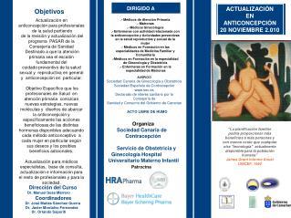 ACTUALIZACIÓN EN ANTICONCEPCIÓN 20 NOVIEMBRE 2.010