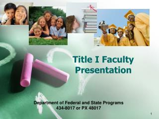 Title I Faculty Presentation