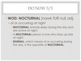 Do Now 3/5