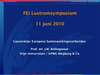 FEI Lustrumsymposium 11 juni 2010