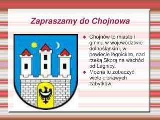 Zapraszamy do Chojnowa
