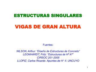 ESTRUCTURAS SINGULARES VIGAS DE GRAN ALTURA