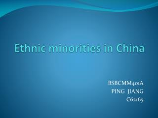 Ethnic  minorities  in China
