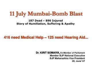 11 July Mumbai-Bomb Blast