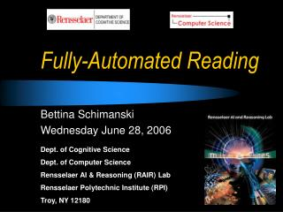 Fully-Automated Reading