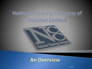 National Clearing Company of Pakistan Limited