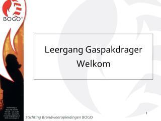 Leergang Gaspakdrager Welkom