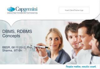 DBMS, RDBMS Concepts
